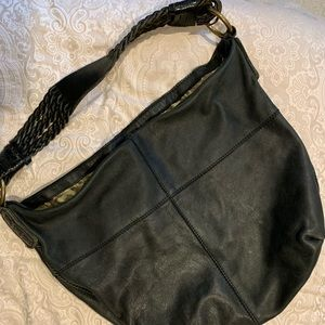 4d0d432a8 Lucky Brand. Lucky Brand Black Leather Slouch Bag